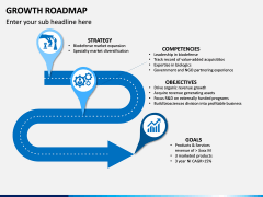 Growth Roadmap PPT Slide 1