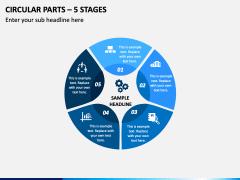 Circular Parts – 5 Stages PPT Slide 1