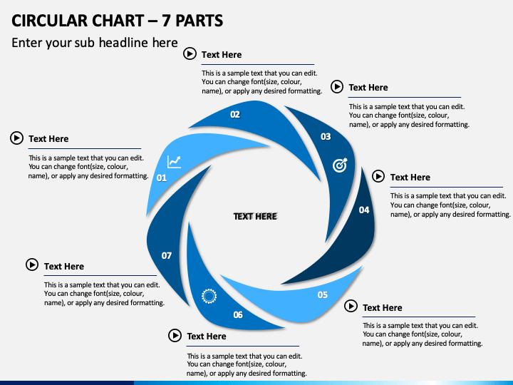 Circular Chart – 7 Parts PPT Slide 1