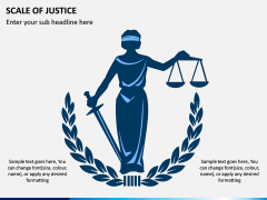 Scale of Justice PPT Slide 1