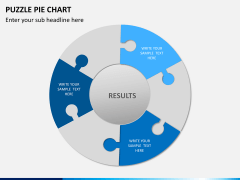 Puzzle pie chart PPT slide 1