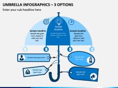 Umbrella Infographics – 3 Options PPT slide 1