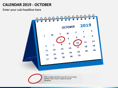 Desk Calendar 2019 PPT Slide 10