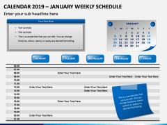 Calendar 2019 Weekly Schedule PPT Slide 1