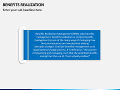 Benefits Realization PPT Slide 1