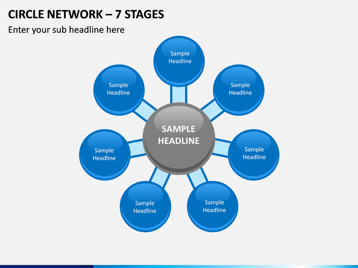 Circle Network – 7 Stages PPT Slide 1