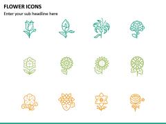 Flower Icons PPT Slide 5