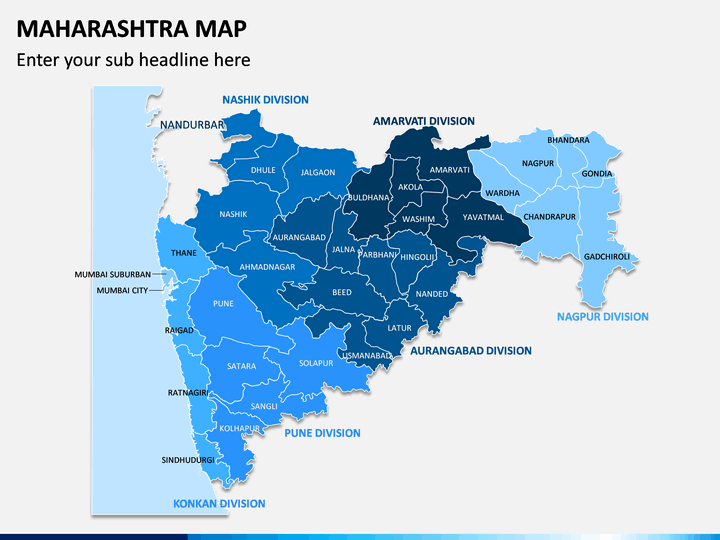 Maharashtra Map PPT Slide 1