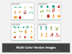 Health and fitness icons PPT slide MC Combined
