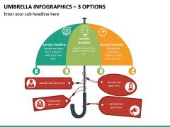 Umbrella Infographics – 3 Options PPT slide 2