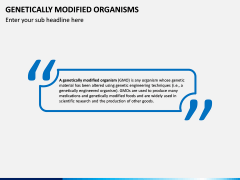 Genetically Modified Organisms (GMO) PPT Slide 1