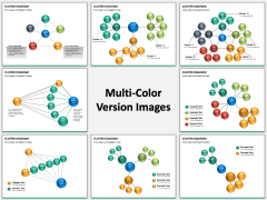 Cluster diagram PPT slide MC Combined