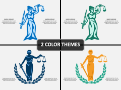 Scale of Justice PPT Cover Slide