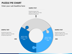 Puzzle pie chart PPT slide 5
