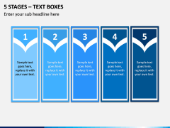 5 Stages – Text Boxes PPT slide 1