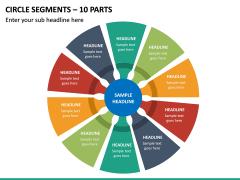 Circle Segments – 10 Parts PPT Slide 2