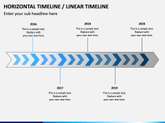 Horizontal Timeline PPT Slide 9