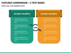 Features Comparison – 2 Text Boxes PPT slide 2