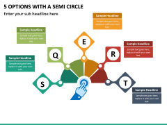 5 Options with a Semi Circle PPT slide 2