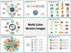 Transportation and Logistics Multicolor Combined
