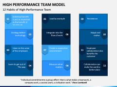High Performance Team Model PPT Slide 7