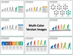 Evolution diagram PPT slide MC Combined