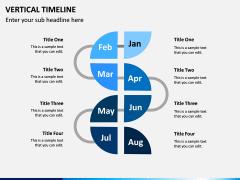 Vertical Timeline PPT Slide 1