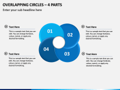 Overlapping Circles – 4 Parts PPT Slide 1