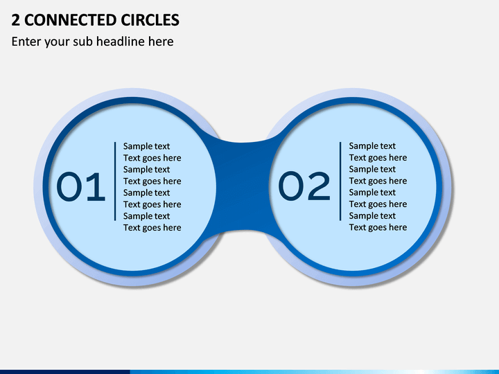 2 Connected Circles PPT Slide 1