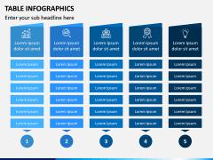 Table Infographics PPT Slide 11