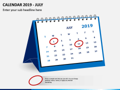 Desk Calendar 2019 PPT Slide 7