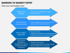 Barriers to Market Entry PPT Slide 13