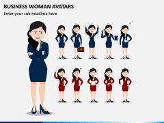Business Woman Avatars PPT Slide 2