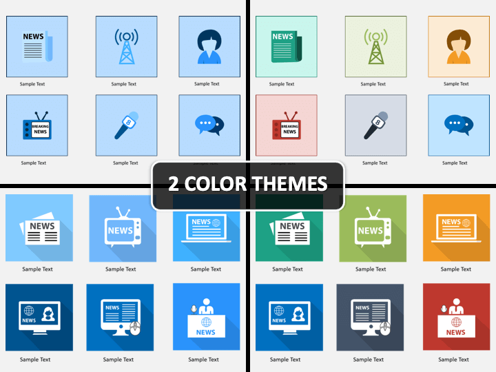 News Icons Powerpoint Template Sketchbubble