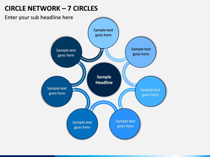 Circle Network – 7 Circles PPT slide 1