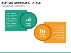 2 Options with Circle & Text Box PPT slide 2