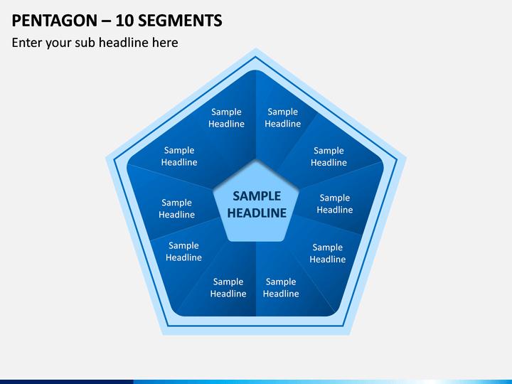 Pentagon – 10 Segments PPT Slide 1