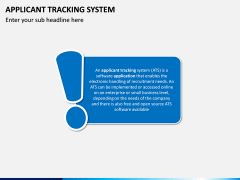 Applicant Tracking System PPT Slide 1