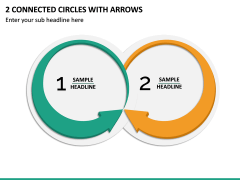 2 Connected Circles With Arrows PPT Slide 2