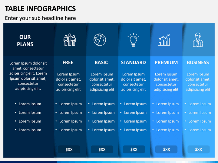 Table Infographics Powerpoint Template Sketchbubble