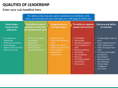 Qualities of Leadership PPT Slide 22
