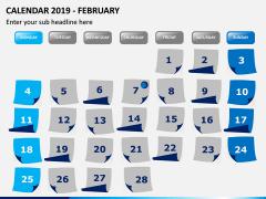 Calendar 2019 PPT Slide 2