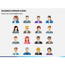 Business Person Icons PPT Slide 1