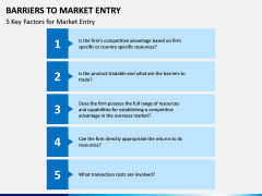 Barriers to Market Entry PPT Slide 11