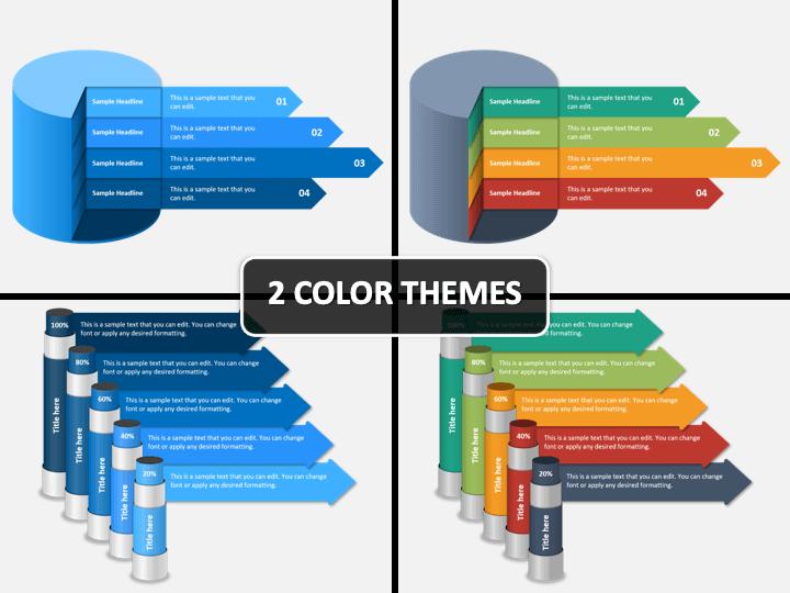 Cylinder Infographics PPT Cover Slide