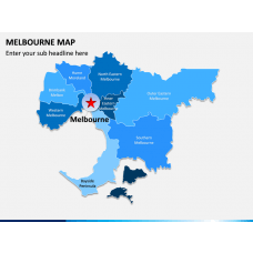Melbourne Map PPT Slide 1