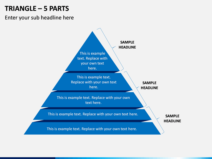 Triangle – 5 Parts PPT Slide 1