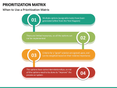 Prioritization Matrix PPT Slide 20