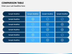 Comparison Tables PPT slide 3