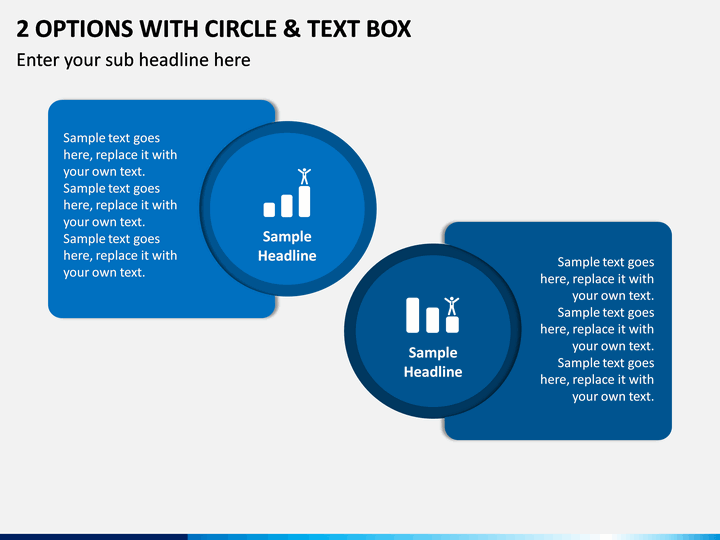 2 Options with Circle & Text Box PPT slide 1